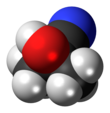 Spacefill model of acetone cyanohydrin