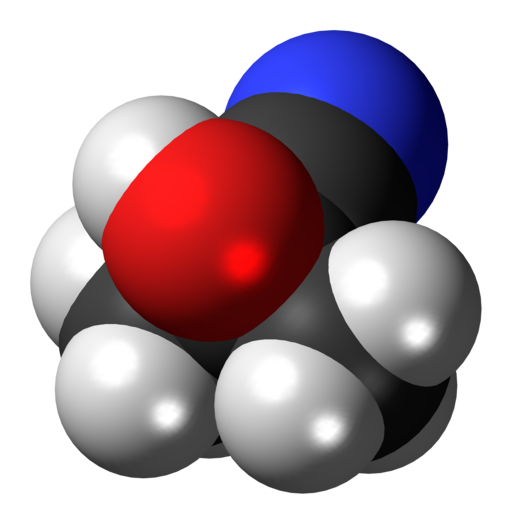 Acetone-cyanohydrin-3D-spacefill