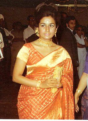 Nanda (actress) - Nanda at a party in Kenya, 1970