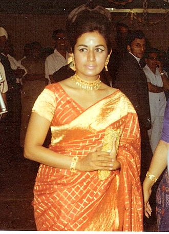 Nanda (actress) - Nanda at a party in Kenya, 1970
