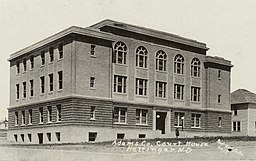 Adams County Courthouse, vykort, ca. 1930.