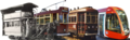 Adelaide trams of the four main eras -- montage.png