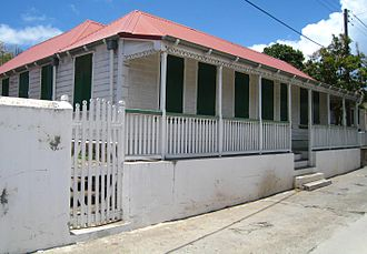 Oranjestad, Sint Eustatius - The restored 'Gezaghebber House' on Kerkstraat
