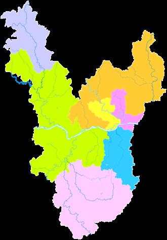Wuzhou - Image: Administrative Division Wuzhou