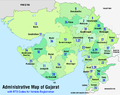 Administrative map of Gujarat with RTO codes for vehicle registration.png