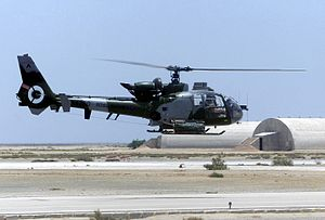 847 Naval Air Squadron - Image: Aerospatiale Gazelle AH1 Royal Marines in Iraq 2002