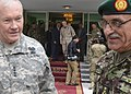 Afghan National Army (ANA) Gen. Sher Mohammad Karimi, right, the chief of the general staff of the ANA; U.S. Army Gen. Martin E. Dempsey, left, the chairman of the Joint Chiefs of Staff; Bismullah Khan 130406-D-VO565-014.jpg
