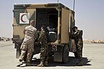 Afghan National Army conducts first fixed wing patient transer from RC(SW) 130824-M-ZE445-026.jpg
