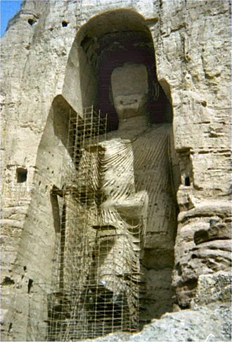 Mohammed Omar - Mullah Omar ordered the destruction of the Buddhas of Bamiyan (pictured in 1976) in March 2001, receiving international condemnation.