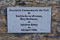 Aghaboe Priory of St. Canice Nave Plaque Mary McAleese 2010 09 02.jpg