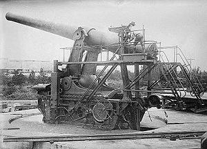 14-inch gun M1907 - 14-inch gun on disappearing carriage, Sandy Hook Proving Ground, New Jersey