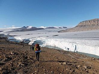 Quttinirpaaq National Park - Image: Air Force Glacier