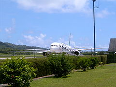 Air New Zealand at Rarotonga Int Airport.JPG