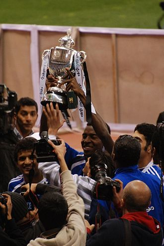 Al-Hilal FC - Al-Hilal players celebrating their Saudi Premier League championship in 2010
