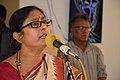 Alakananda Ghosh Performing Opening Song - Biswatosh Sengupta Solo Exhibition Inauguration - Kolkata 2015-07-28 3154.JPG