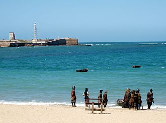 Alatriste - Alatriste filming in La Caleta beach, Cádiz, Spain