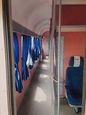 Hekurudha Shqiptare - A refurbished carriage interior in 2015