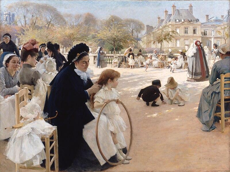 Файл: Альберт Эдельфельт - Люксембургский сад, Париж.jpg