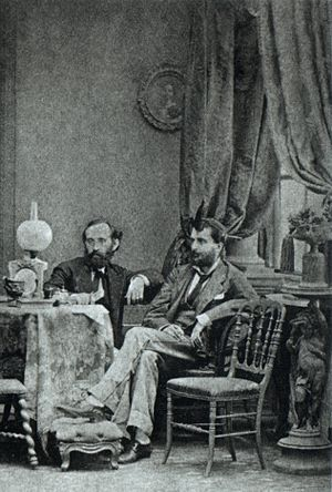 Alberto Henschel - The photographers Alberto Henschel (right) and Constantino Barza, in 1870