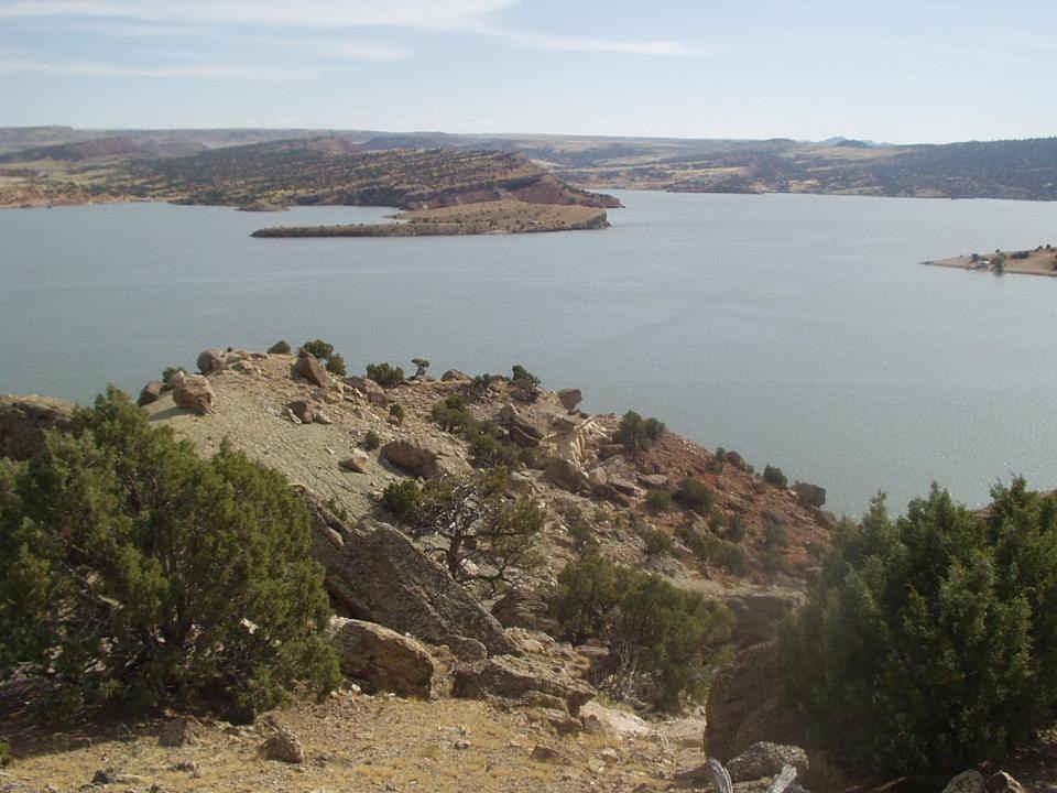 Alcova Reservoir near Casper Wyoming