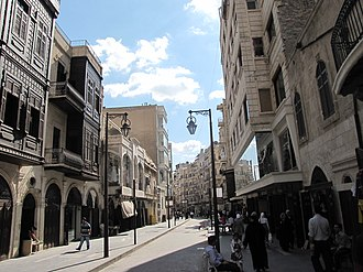 Markets at Tilel street Aleppo shopping street.jpg