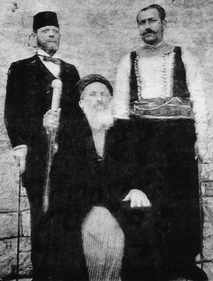 Syrian Jews - Chief Rabbi Jacob Saul Dwek, Hakham Bashi of Aleppo, Syria, 1907.