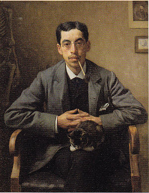 Arnold Aletrino - Arnold Aletrino, Portrait by Jan Veth dating from 1885