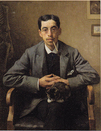 Arnold Aletrino - Arnold Aletrino, Portrait by Jan Veth dating from 1885