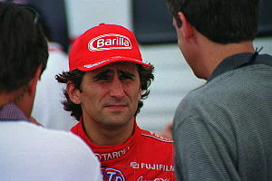 2001 American Memorial - Alex Zanardi (center, pictured in 1998) was involved in a life-threatening accident with 12 laps remaining.