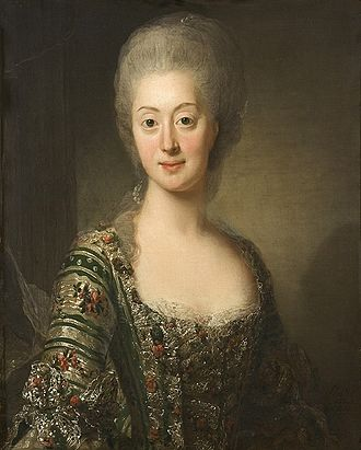 Gustav III of Sweden - Portrait of Sophia Magdalena of Denmark, painted by Alexander Roslin in 1775