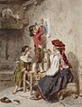 Alexandre-Marie Guillemin - Interior with Italian Woman and Children - Walters 371382.jpg