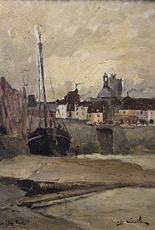 Alfred Casile (1848-1909), Le port de Dieppe.jpg