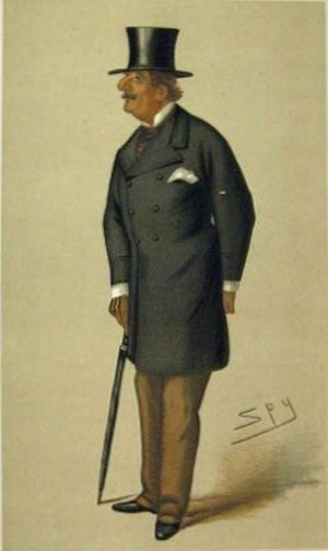 """Alfred Horsford - """"The Beau ideal"""" Horsford as caricatured by Spy (Leslie Ward) in Vanity Fair, February 1877"""