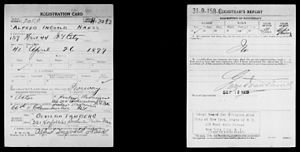 Alfred Næss - Image: Alfred Ingvald Næss in the World War I draft registration