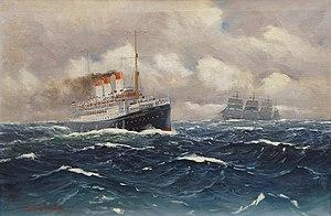 SS Cap Polonio - Image: Alfred Jensen Die Cap Polonio auf hoher See