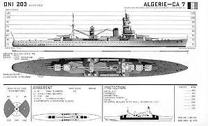 French cruiser Algérie - Image: Algerie 1