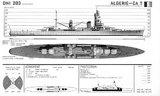French cruiser <i>Algérie</i>