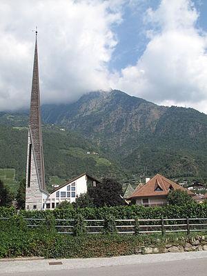 Algund - The new St Joseph's Church in Algund