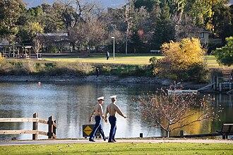 Almaden Valley, San Jose - U.S. Marines at Almaden Lake.