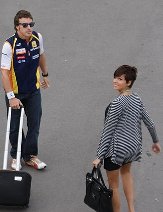 Fernando Alonso - Alonso and his ex-wife, Raquel del Rosario.