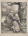 Alphonse Legros - Bowing before the Tree (L'arbre de salut) - 1920.573 - Cleveland Museum of Art.jpg