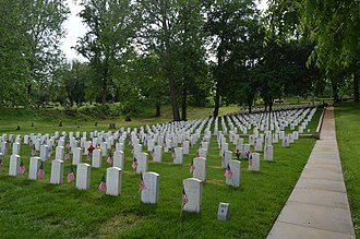 National Register of Historic Places listings in Madison County, Illinois - Image: Alton National Cemetery