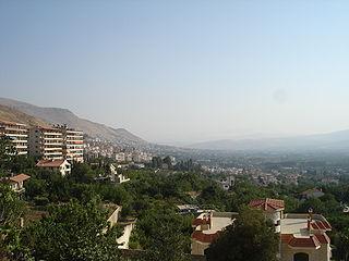 Al-Zabadani Place in Rif Dimashq Governorate, Syria