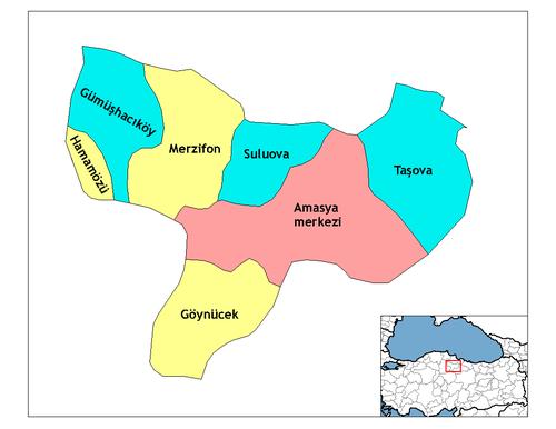 Amasya'nın ilçeleri