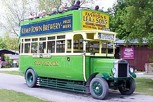 Open top bus - An early open top bus in Southdown livery