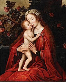 Ambrosius Benson (workshop) - The Madonna and Child in a Rose Garden