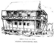 American Yacht Club House Newbury Port Mass c 1894