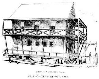 American Yacht Club House Newbury Port Mass c 1894