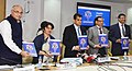 "Amitabh Kant, the Secretary, Ministry of Health & Family Welfare, Smt. Preeti Sudan and the World Bank Country Director, India, Shri Junaid Ahmad releasing the ""Healthy States, Progressive India"" Report, in New Delhi.jpg"