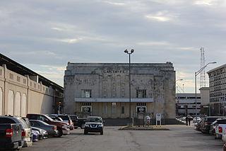 Santa Fe Depot (Oklahoma City) train station in Oklahoma City, Oklahoma